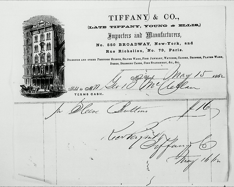 McClellan1862TiffanyReceipt